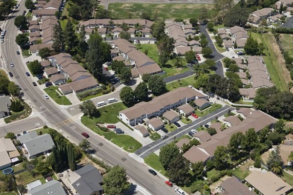 Roofs in San Diego Residential Community