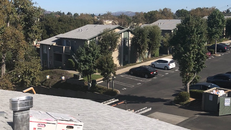 Fallbrook, California Shingle Roof Replacement in Rosewood Apartments